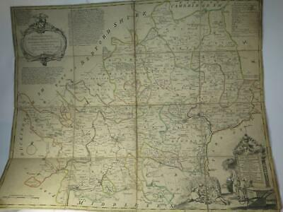 ANTIQUE IMPROVED MAP OF THE COUNTY OF HARTFORDSHIRE Thomas Kitchen c 1760