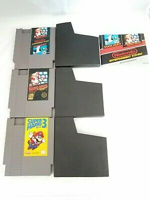 Nintendo NES Lot Super Mario Duck Hunt Manual 5 Screw Super Mario 3 Clean Tested