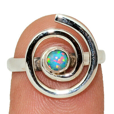 Jewelry & Watches Spiral Fire Opal 925 Sterling Silver Ring Jewelry S.7 Ar37043 34j