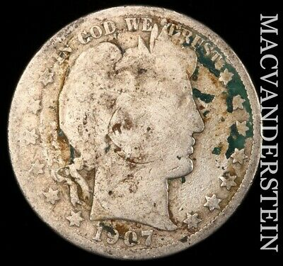 1907-O Barber Half Dollar - Scarce!!  Better Date!!  #e3703