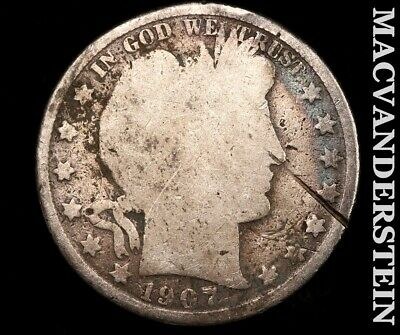 1907-D Barber Half Dollar-Scarce Better Date!! #b4362