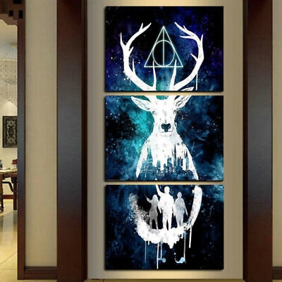 HOT 3 Piece Harry Potter Poster Canvas HD Prints Painting Wall Art Home Decor