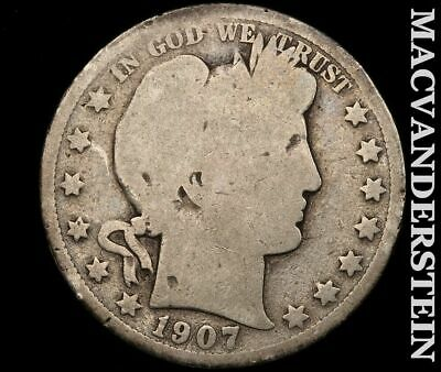 1907-D Barber Half Dollar-Scarce Better Date!!  #e217