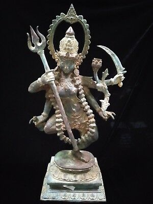 Shiva Nataraja Lord Of Dance Creator Bronze Brass Statue God Meditation Huge Art
