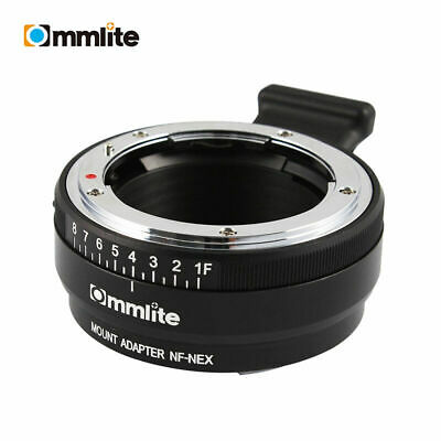 Commlite Adapter CM-NF-NEX for Nikon F(G) Lens to Sony E Mount Camera A7R2 A9
