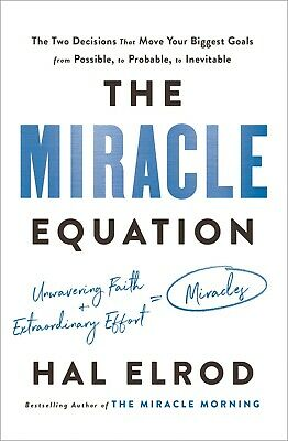 The Miracle Equation The Two Decisions Hardcover Success Self-Help by Hal Elrod
