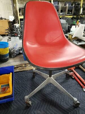 Vintage Eames Psca Upholstered Shell Chair Red Vinyl Original Authentic W/Tags!