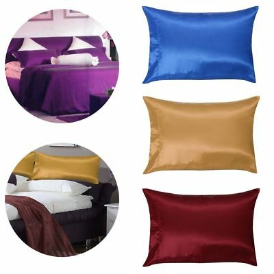 Hot New 2Pc Mulberry Silk Pillow Case Pillowcase Covers Housewife Queen Standard