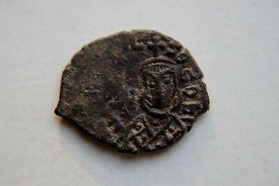 ANCIENT BYZANTINE THEOPHILUS BRONZE FOLLIS COIN 9th CENTURY SYRACUSE MINT