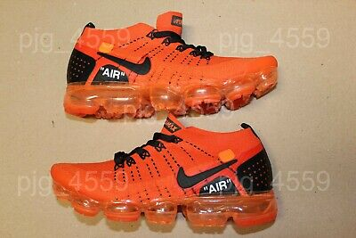 Men's Nike Air VaporMax Flyknit 2 v2 size 8.5 Orange Black Vapor Max Airmax