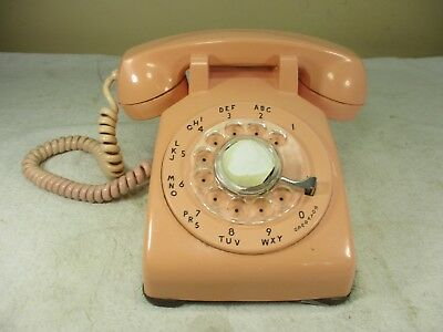 Vintage Retro Pink Western Electric Bell System Rotary Dial Desk Telephone WORKS
