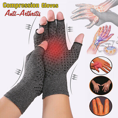 Anti Arthritis Compression Hand Gloves Wrist Support Finger Joint Pain Relief A2