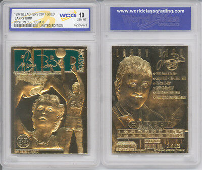 Larry Bird 23K  Gold Bar Tablet Card