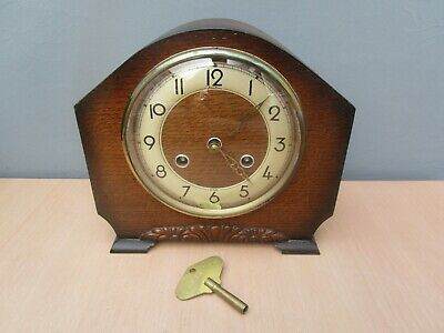 Vintage Bentima 8 Day Mantle Clock With Perivale Movement