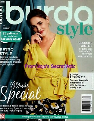 BURDA STYLE MAGAZINE WEDDING ISSUE March 3/2019  COMPLETE WITH  UNCUT PATTERNS