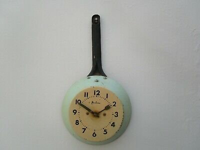 Vintage Bentima Wind Up Frying Pan Wall Clock