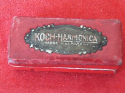 Miniature Mouth Organ In Original Box, Koch-Harmonica, Made In Germany