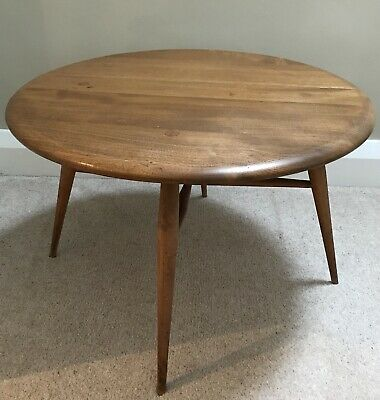 Ercol Mid Century Drop Leaf Coffee Table Model 308 Occasional Vintage