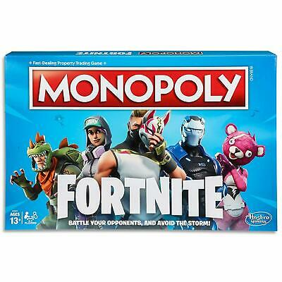 Monopoly Board Game Fortnite by Epic Games Edition Tilted Towers Storm Card