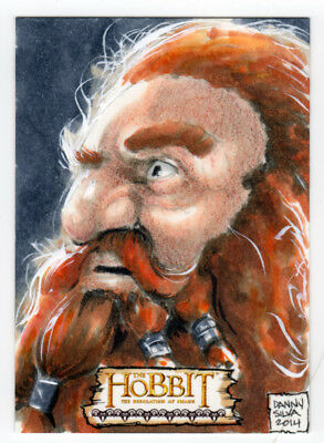 The Hobbit : The Desolation of Smaug Danny Silva Sketch Card - Gloin