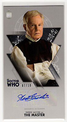 Dr Who Tenth Doctor Adventures Derek Jacobi as 'The Master' Autograph Card 07/10