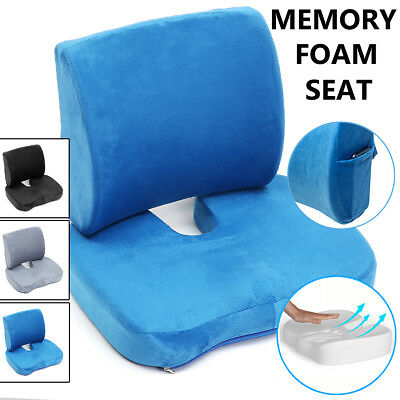Memory Foam Seat Cushion Lumbar Back Support Car Home Office Pain Relief Pillow