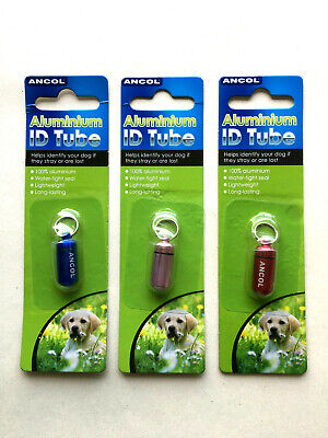Ancol Aluminum ID tube (Suitable for dog and cats)