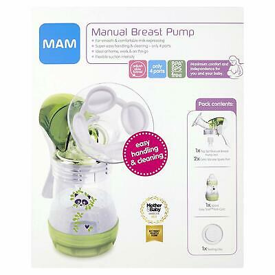 MAM Manual Breast Pump BRAND NEW BPA BPS Free Easy Start Anti Colic