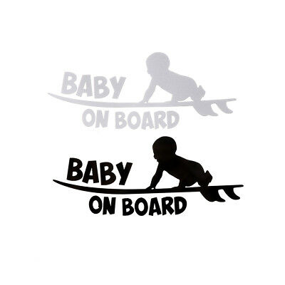 1PC Baby on board vinyl decal car sticker DIY reflective auto stickers FG
