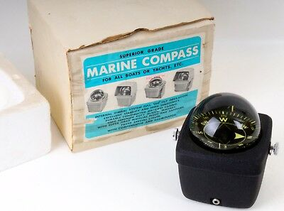 Vintage Marine Compass No. 932 for all Boats or Yachts 1960er Made in Japan