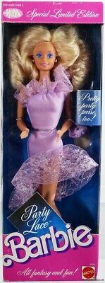 Party Lace Barbie Doll Hills Special Limited Edition #4843 New NRFB 1989 Mattel