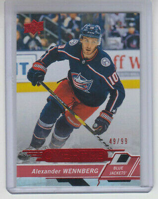18/19 UD Overtime Wave 3 Columbus Alexander Wennberg Red card #126 Ltd #49/99