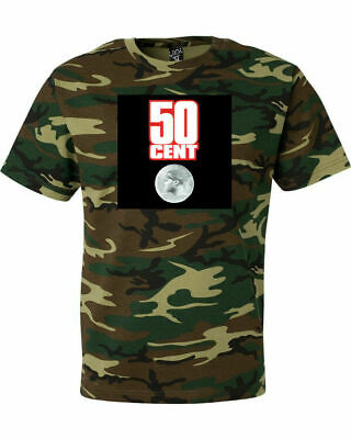 50 Cent Power Of The Dollar Camouflage T Shirt Green Woodland Camo G Unit Rap