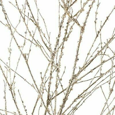 Very Tall ICY Sparkling Silver Artificial Twig Bundle