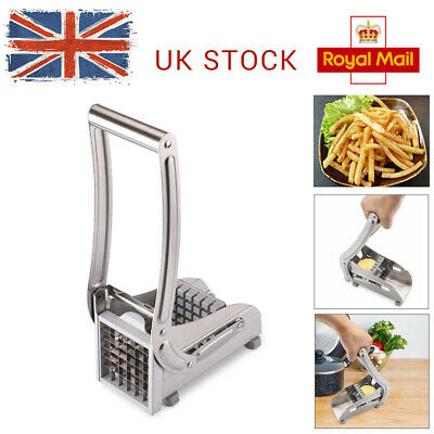 2 Blades Kitchen Craft Hand Operated Potato Chip Maker Machine Cutter Chipper