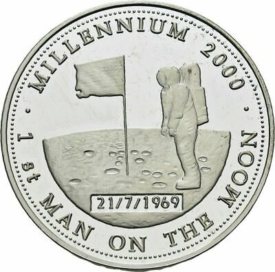 1999 Zambia Large Silver Proof 1000 Kwacha-Millenium-First Man on the Moon