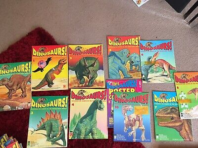 Orbis Play And Learn Dinosaur Magazine Collection Including First 10 Issues 1993