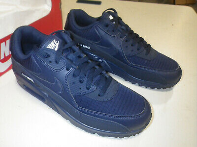 detailed look 9be6a 2a302 NIKE AIR MAX 90 Essential Men's (Size 9) White MIDNIGHT NAVY AJ1285 404 New!