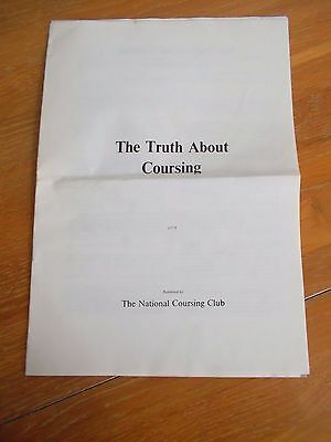 The Truth About Coursing & A Brief Guide To Hare Coursing National Coursing Club