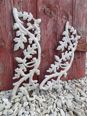 2 Panels Wrought Iron Decorative Wall Art Decor Architectural Salvage Vintage d
