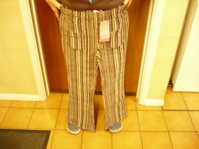Age 10-11 Girls Brown Pinstripe Corduroy bootcut trousers Hight  55inches