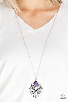 Paparazzi Jewelry Necklace ~Inde-PENDANT Idol - Purple~ Vintage RARE! Spring!