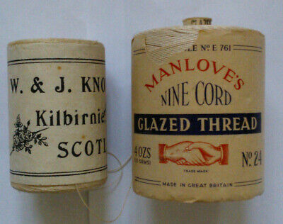 1950's Manlove's Nine Cord and W. & J. Knox Thread