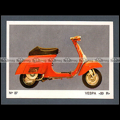 #MTP027 ★ VESPA 50 R Scooter 70's ★ Carte Moto Motorcycle card