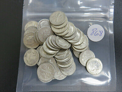 $5.00 Face Value 90% Silver Roosevelt Dimes