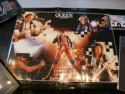 QUEEN, Freddie Mercury, Roger Taylor Brian May 1981 JAPAN TOUR POSTER - -RARE!