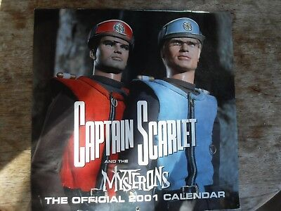 Vintage Gerry Anderson Captain Scarlet And The Mysterons 2001 Calendar