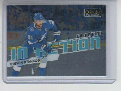 18/19 OPC Platinum Tampa Bay Lightning Steven Stamkos In Action card #IA-9