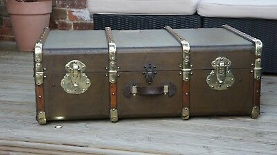 Quality French Antique Cabin Trunk Luggage