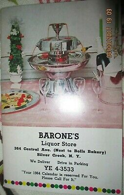 1963 Vintage Barone's Liquor store catalog Silver Creek NY Barware Gifts 50 pgs